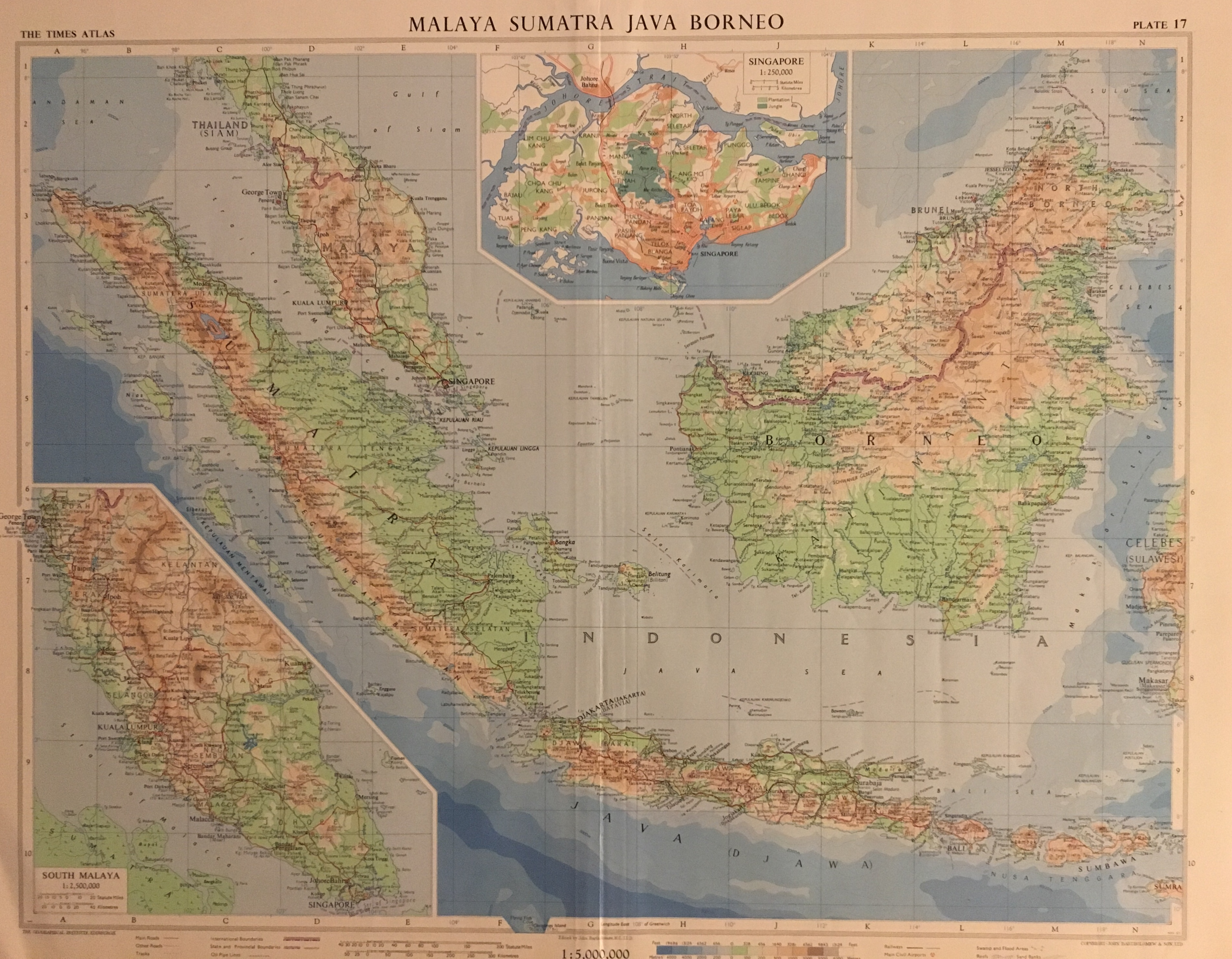 Maps of South East Asia | The Map Collection (Specialized in Maps of