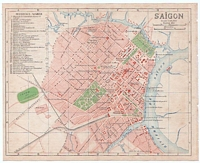 1917 Map of Ho Chi Minh City Saigon