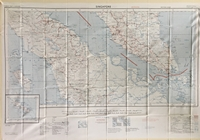 Silk/Rayon Chart of Singapore and Malaya Maritime